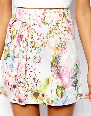 Image 3 of River Island Pretty Floral Print Mini Skirt