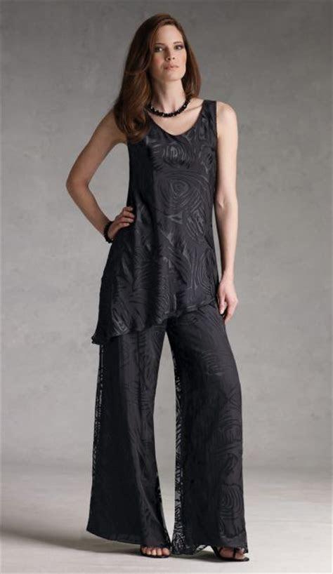 silk burnout pantsuit capri  mon cheri formal pant set