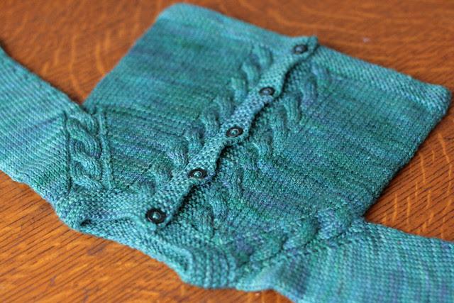 Sunnyside Baby Sweater in Moss
