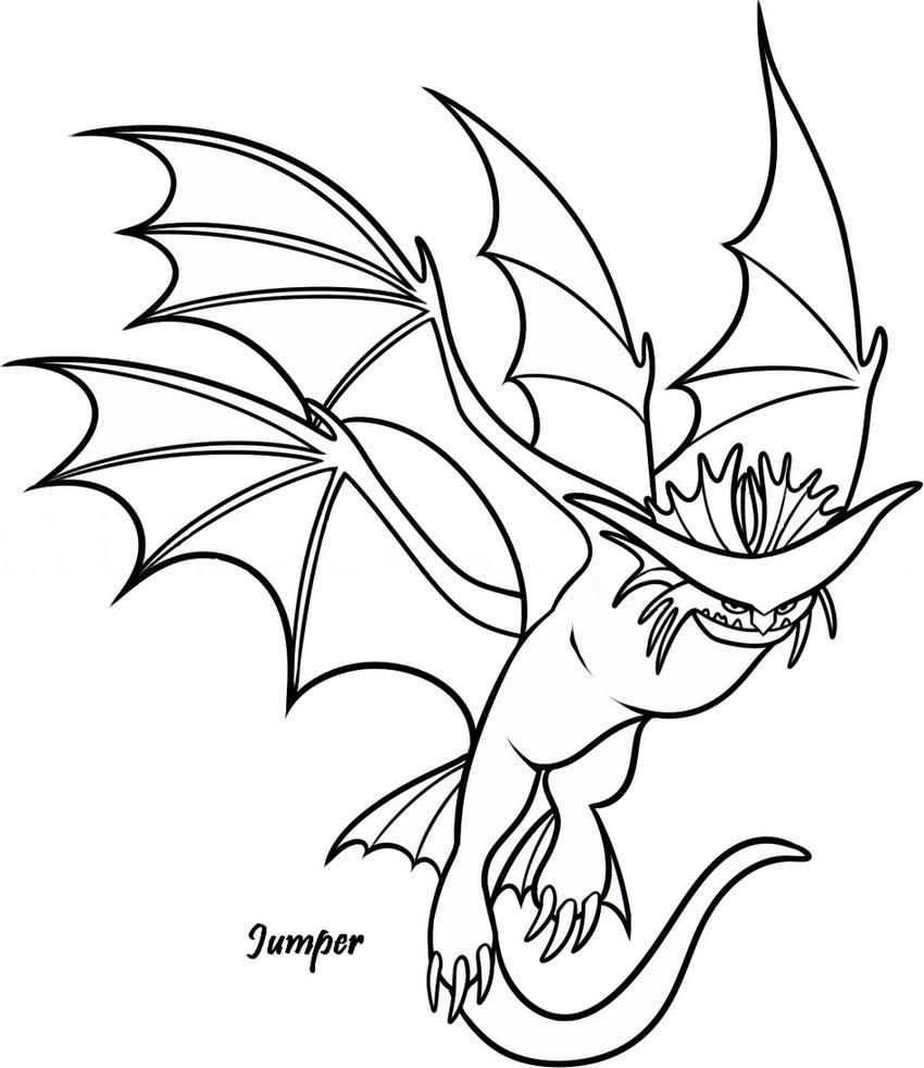 Coloriage A Imprimer Dragons 2 Jumper Gratuit Et Colorier
