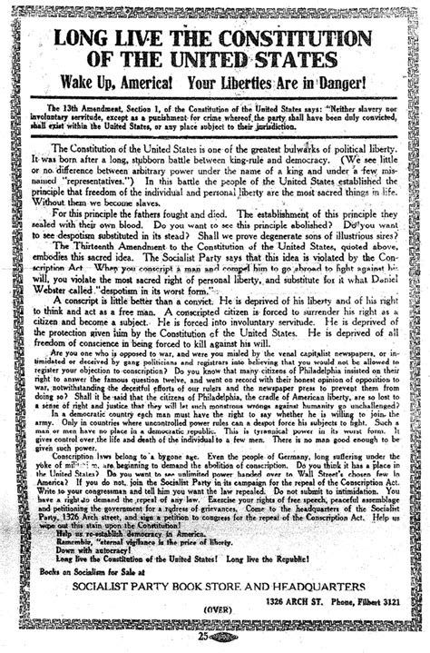 Charles Schenck Leaflet Opposing the Draft - Page 2