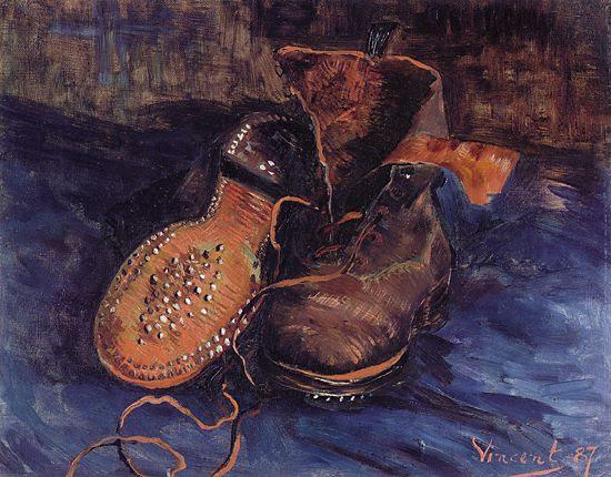 a pair of boots, a pair of boots van gogh, van gogh