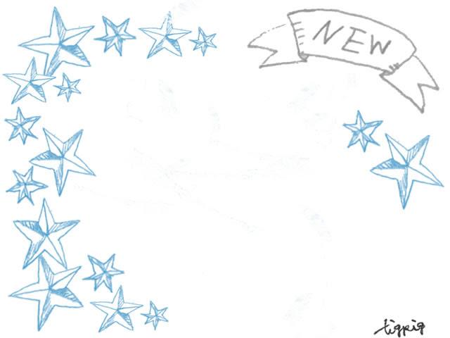 フリー素材フレーム大人可愛いアンティーク風のnewの手書き文字の
