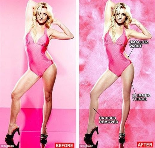 Britney Spears con airbrush