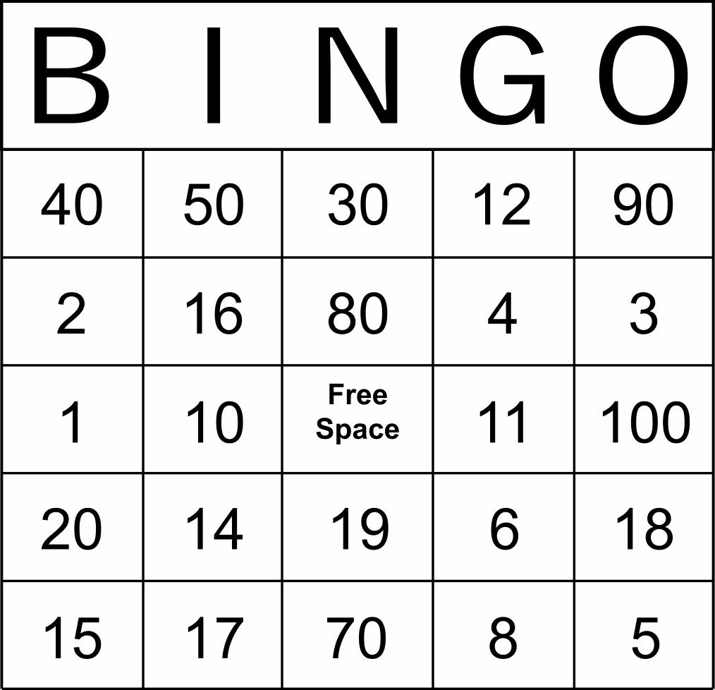 Bingo chart maker