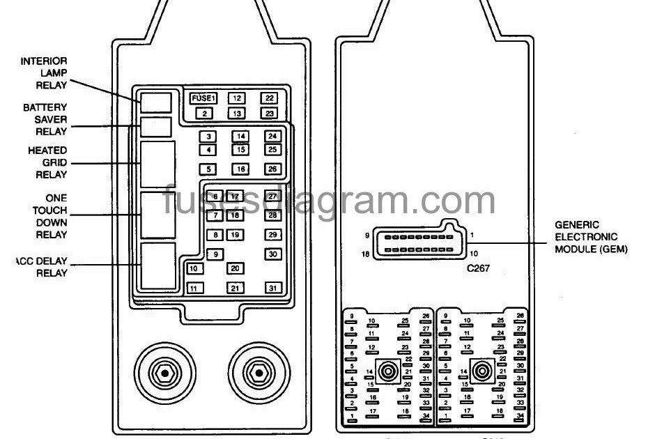 30 2000 Ford Expedition Fuse Box Diagram