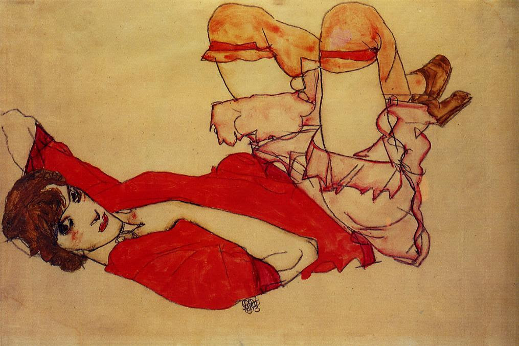 Wally with a Red Blouse, 1913