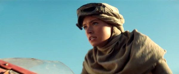 Kira prepares to zoom away on her speeder in STAR WARS: THE FORCE AWAKENS.