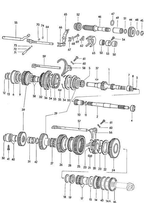 Gears and shafts manual transmission Volkswagen (VW