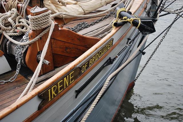 Boat on the Harbor in Bristol