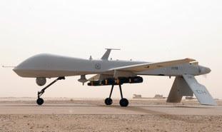 An MQ-1 Predator unmanned aircraft in Iraq.