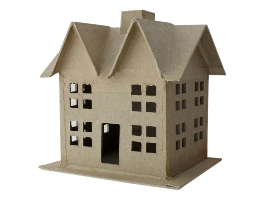 PA Paper Mache 3D House Small Style C