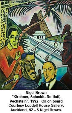 """Nigel Brown - """"Kirchner, Schmidt- Rottluff, Pechstein"""", 1992 by artimageslibrary"""