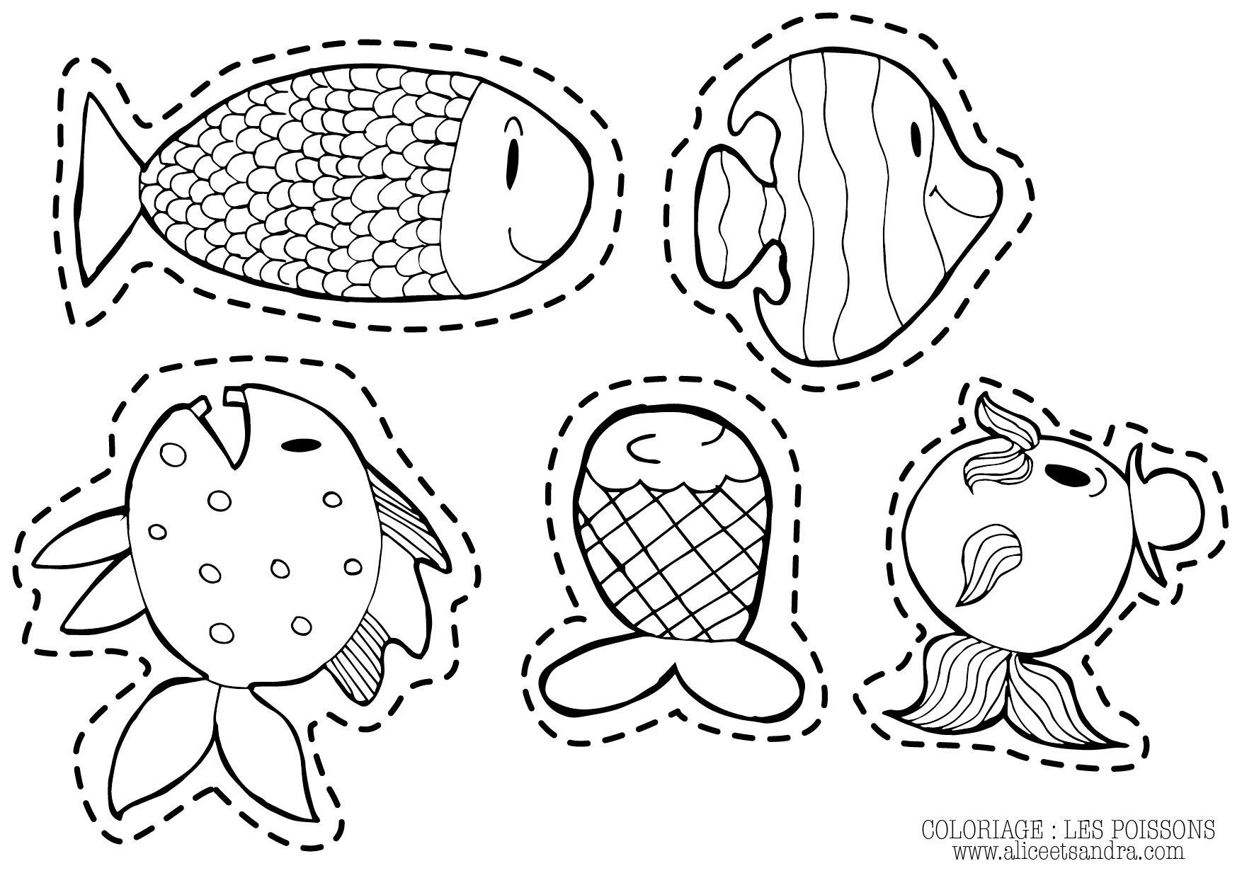 Coloriage  imprimer poisson d avril
