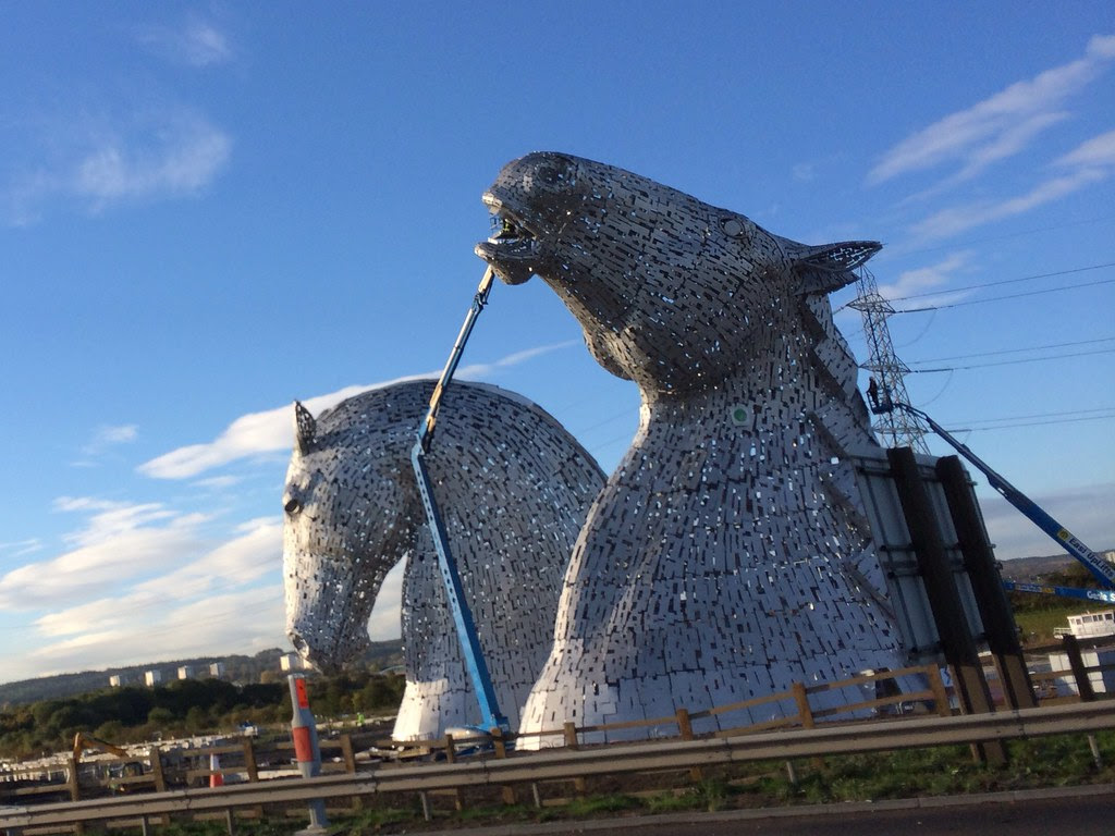 Kelpies at the Helix Falkirk
