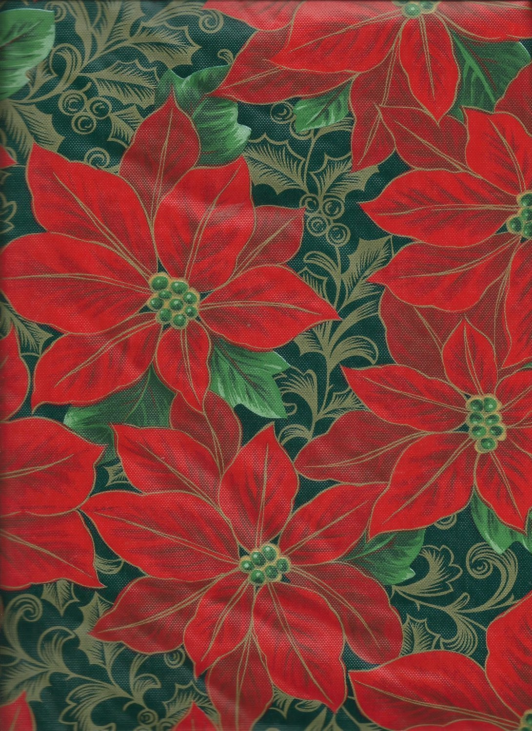 Poinsettia Vinyl And Plastic Table Covers Christmas Wikii