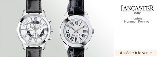 ventes priv es de montres montres luxe lancaster en vente priv e. Black Bedroom Furniture Sets. Home Design Ideas