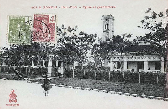 TONKIN - NAM-DINH - Eglise et Gendarmerie