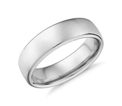 Low Dome Comfort Fit Wedding Ring in Cobalt (6.5mm
