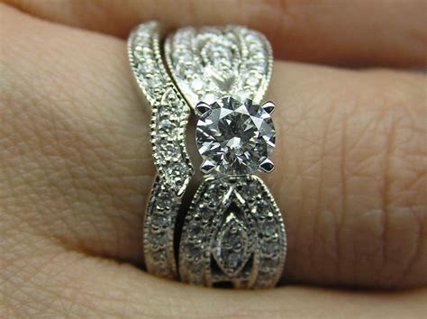 Hand Crafted Round Diamond Butterfly Engagement Ring