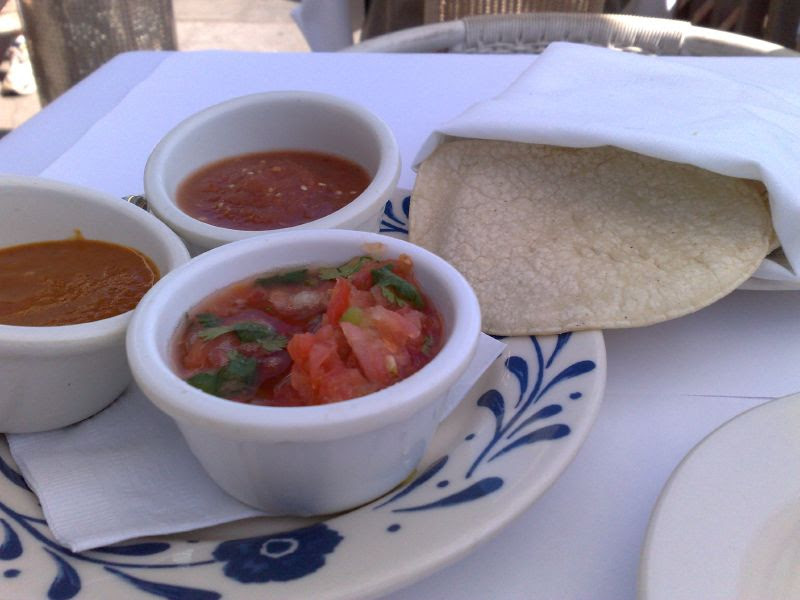 Fresh corn tortillas, thick with special sauces