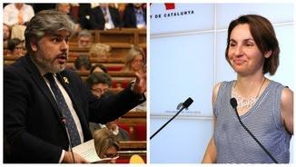 Els portaveus parlamentaris de JxCat i ERC, Albert Batet i Anna Caula (ACN)