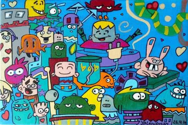 Blendman - pop-art, street-art, surrealism, abstract