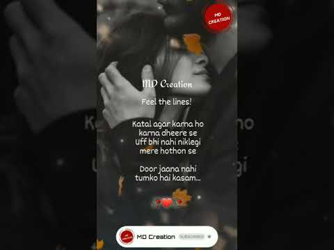 Heart 💔 Touching Boys 😥 Status Katal Agar Karna Ho Karna Dheere Se New W...