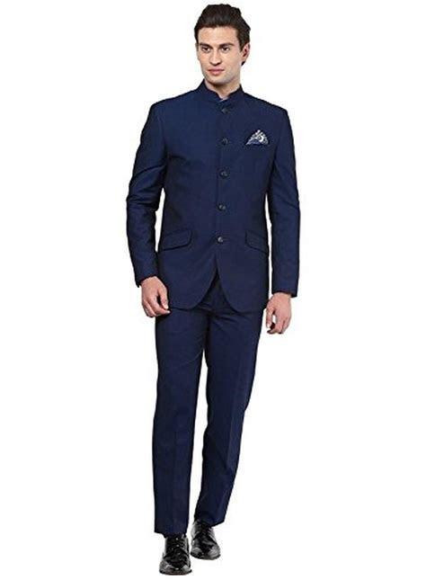 Mens Black Nehru Grandad Collar Suit Ideal For Wedding (36
