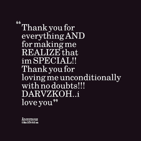 Quotes About Thank You For Everything 41 Quotes