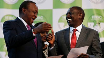 Kenyatta and his deputy William Ruto avoided a runoff after receiving more than 50 percent of the votes [Reuters]