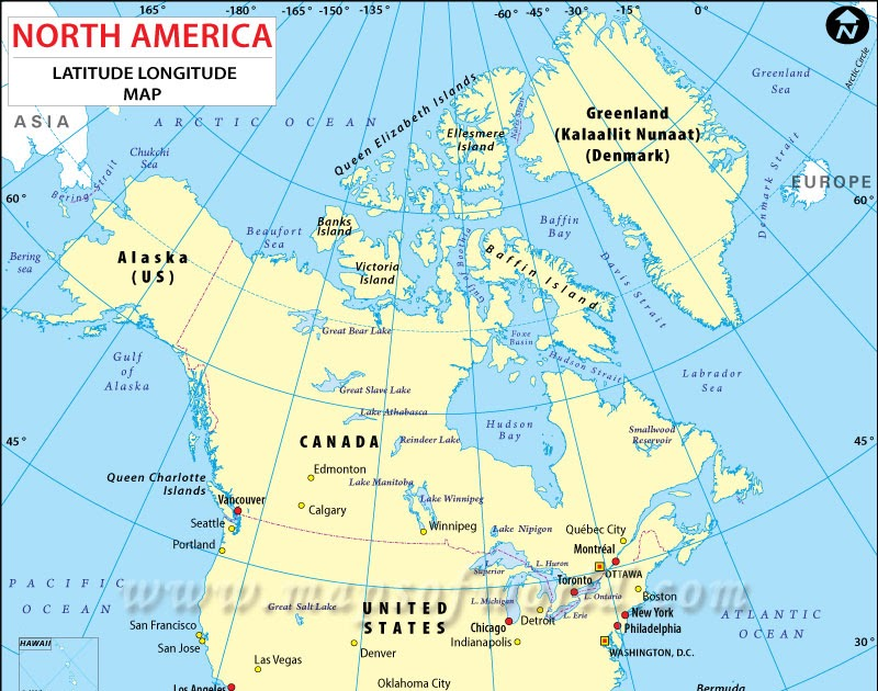 Laude Map Of North America | Zip Code Map on