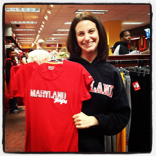 Officially able to rep my Terps on runs courtesy of @underarmour