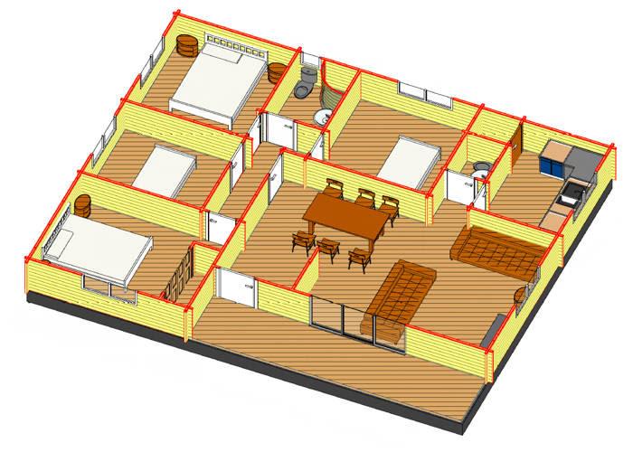 Casas de madera prefabricadas hogar de cristo viviendas - Casas madera economicas ...