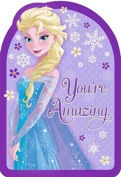 Frozen Queen Elsa You're Amazing Birthday Card   Greeting