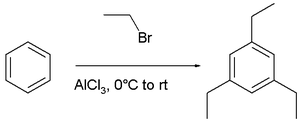 synthesis of 2,4,6-triethylbenzene