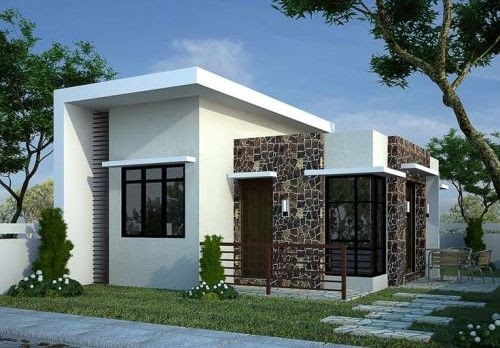 Fasad kontemporer pada Model Rumah Minimalis 1 Lantai (Tim Payne