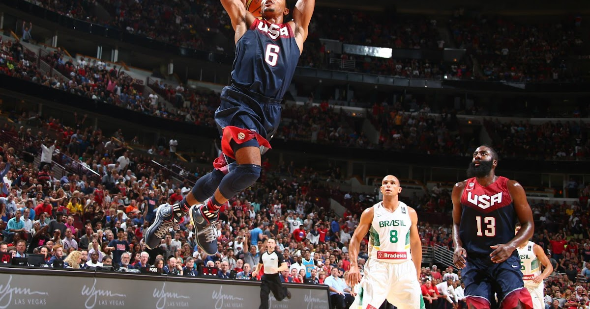 005c2d1a12e0 Derrick Rose39 s sick lefthanded crossover missed dunks in USA vs