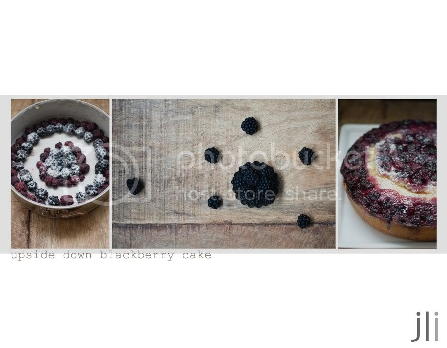 upside down blackberry cake