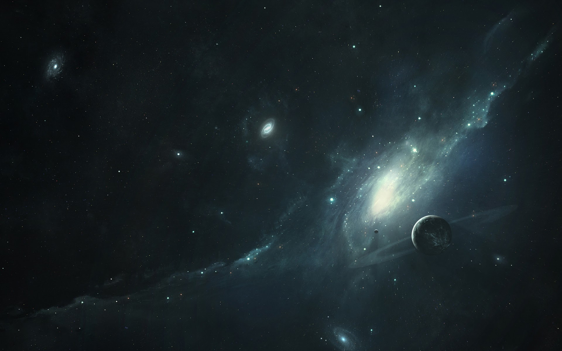 distant planets hd wallpaper