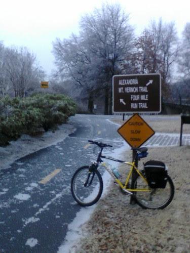 Ice, trail, bike