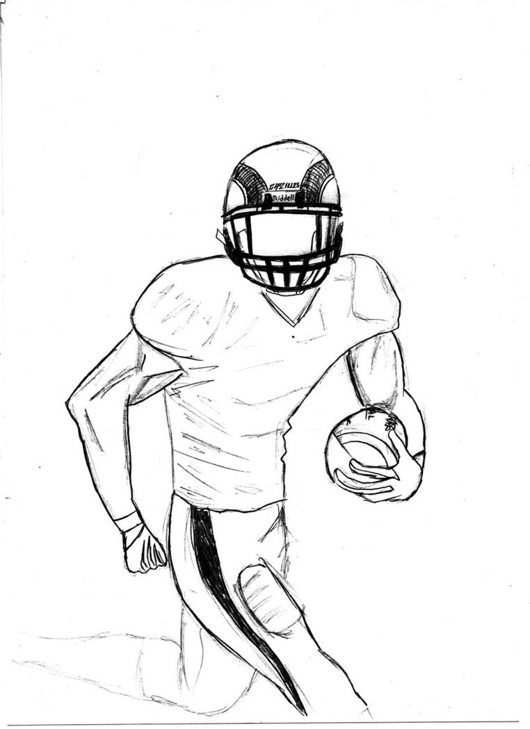 Football Game Drawing Easy Drawing Art Ideas To draw a football the easy way, start by drawing a shape like a sideways egg with pointed ends. football game drawing easy drawing