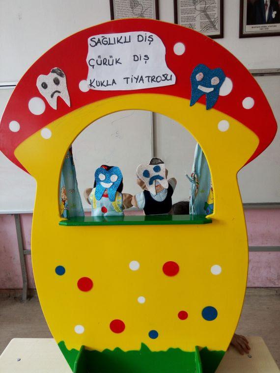 Sağlıklı Ve çürük Diş Konulu Kukla Tiyatro çalışması Yaptık Eğitim
