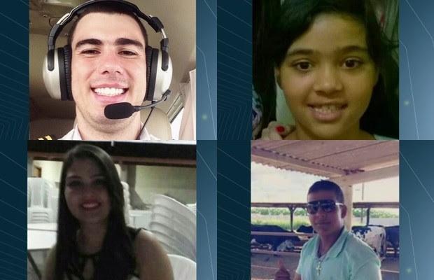Vítimas de queda de avião às margens da GO-139 são identificadas, em Corumbaíba, Goiás (Foto: Reprodução/TV Anhanguera)