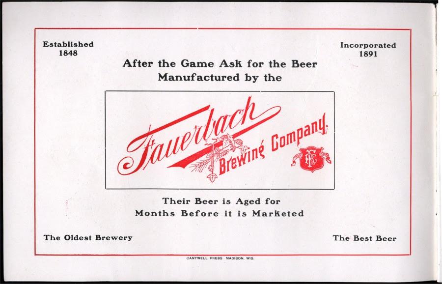 1903 Badger's Football Program.