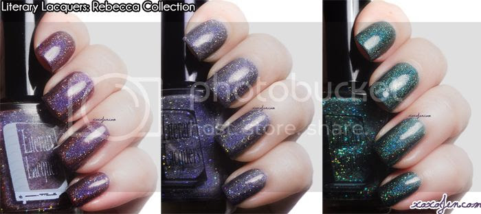 xoxoJen's swatch collage of Literary Lacquer Rebecca Collection