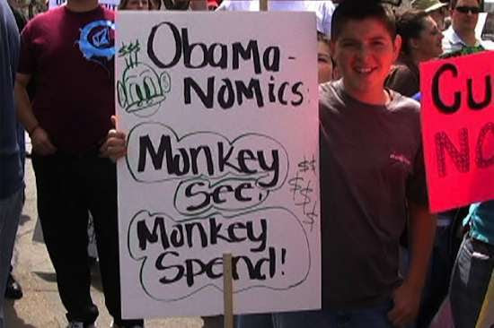Racist tea party sign