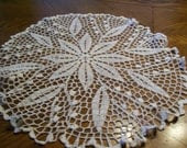 ROUND BRIDAL WHITE TABLE TOPPER