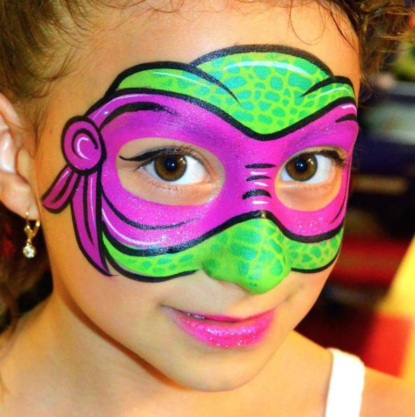 Paint Ninja Turtle Face Painting Ideas