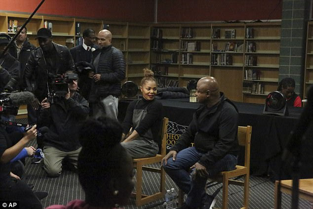 Return: The siblings also met with local students, a day after Janet performed a concert in the Chicago area